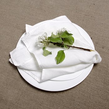 White - napkin -  washed