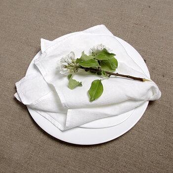 White - napkin -  washed
