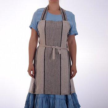 Natural black striped - chief apron