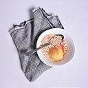 Grey chambre - fringed napkin -  washed
