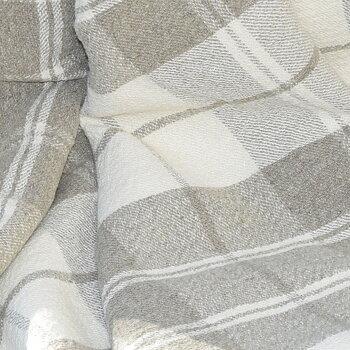 Tartan natur ecru - extra wide heavy linen - 708H