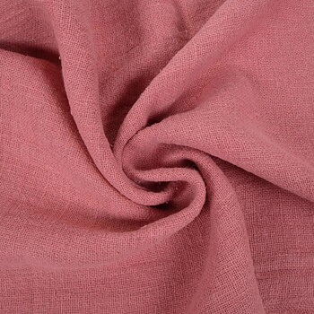 Fluffy  linen fabric - salmon pink- 6336SH