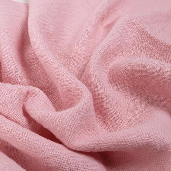 Fluffy  linen fabric - pale pink- 6498SH