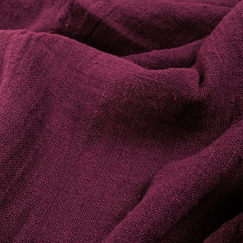 Fluffy  linen fabric - dark red - 6311SH