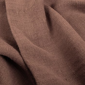 Fluffy  linen fabric - earthy brown - 6319SH