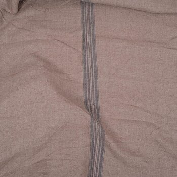 French linen - brown with stripes -  061H