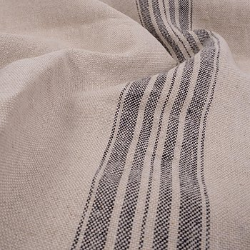 French linen - natur with grey -  498H