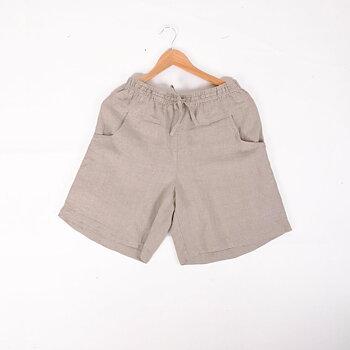 Natural linen shorts