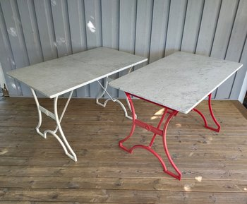 Outdoor table, Snäckan in Carrara marble from Byarums Bruk Outdoor furniture