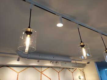 Suspended lamps in glass, SG Armaturen - 1-phase rail