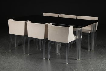 Furniture group, Kartell Top Top Table 190 cm + Kartell Mademoiselle