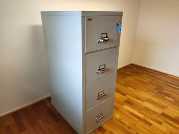 Fire-insulated hanging file cabinet from ROBUR
