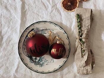 Personlig julkula - Mörkröd matt