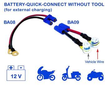 Batterikabel hane BA09B