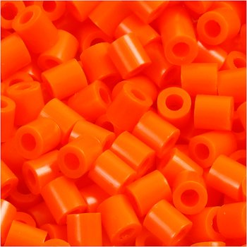 Rörpärlor, medium, stl. 5x5 mm, 1100 st., orange klar (32233)