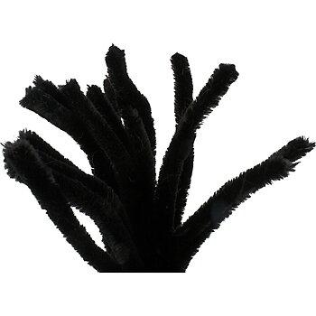 Piprensare, tjocklek 15 mm, L: 30 cm, 15 st., svart