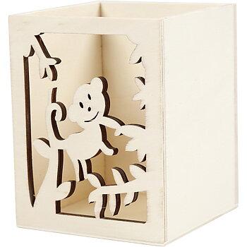 Pennställ, L: 8 cm, B: 8 cm, 1 st., plywood