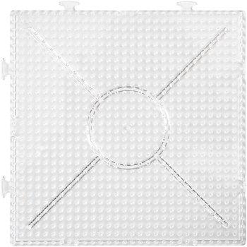 Stiftplatta, stl. 15x15 cm, 2 st., transparent
