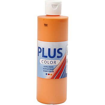 Plus Color hobbyfärg, 250 ml, pumpkin