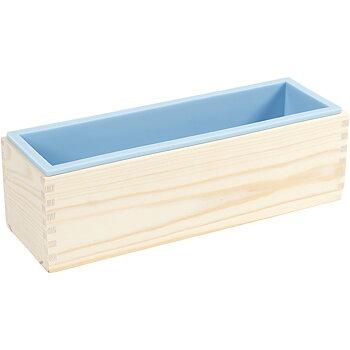 Silkonform i träbox, ljusblå, H: 8 cm, L: 27,5 cm, B: 8,6 cm, 1500 ml, 1 st.