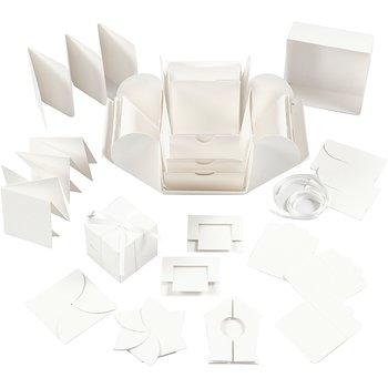 Exploding Box, stl. 7x7x7,5+12x12x12 cm, g1 st., råvit
