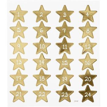 Stickers, 15x16,5 cm, 24 st., 1 ark