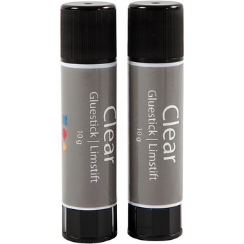 Clear limstift, 10 g, 2 st.