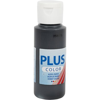 Plus Color hobbyfärg, 60 ml, black