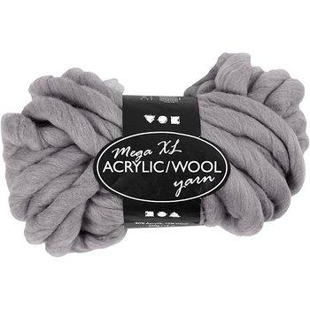 XL Akrylgarn med ull, L: 15 m, 300 g, grå
