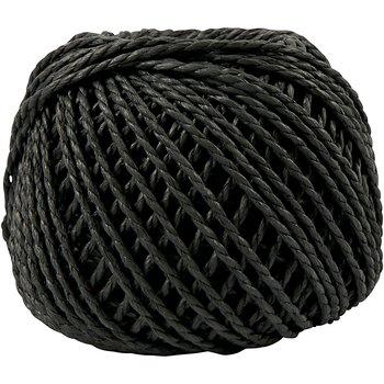Paperyarn, tjocklek 2,5-3 mm, ca. 42 m, 40 m, svart