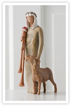 Shepherd With Bagpipe - Willow Tree