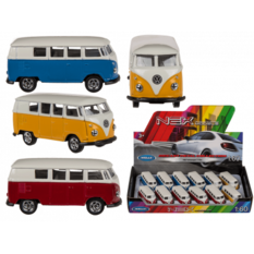 VW T1 Bus 1963, Model car 7cm Sininen