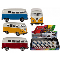 VW T1 Bus 1963, Model car 7cm Punainen