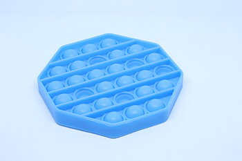 Fidget Pop Toy Hexagon Blue