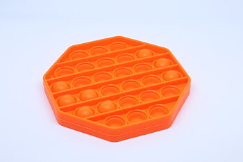 Fidget Pop Toy Hexagon Orange