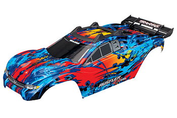 Traxxas 6717R Body Rustler 4x4 Red/Blue (Complete with Body Mounts)