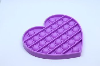 Fidget Pop Toy Heart Purple