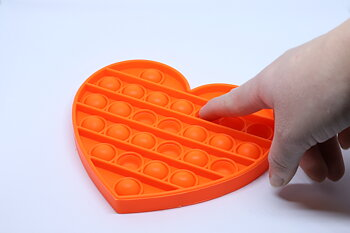 Fidget Pop Toy Heart Orange