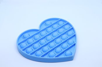 Fidget Pop Toy Heart Blue