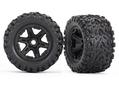 "Traxxas 8672 Tires & Wheels Talon EXT/Carbide Black 3.8"" (2)"