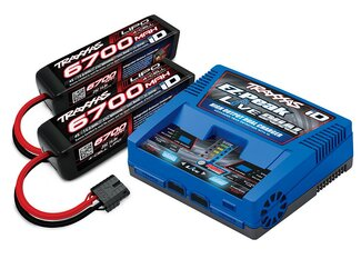 Traxxas 2997G Charger EX-Peak Live Dual 26A and 2x4S 6700mAh Battery Combo