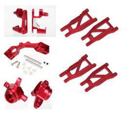 Traxxas 4x4 Aluminum upgrade 1 + red suspension