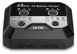 SkyRC e3 Duo Charger 2-3s LiPo/LiFe/LiHV 240VAC