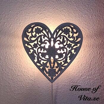 Lampa Hjärta Flower, Vägg Vit