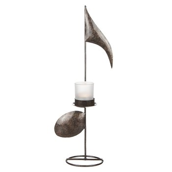 Candle lantern Note in hammered sheet metal