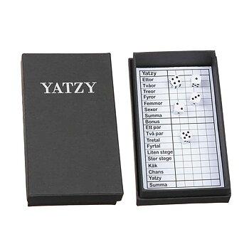 Trälåda Yatzy med block & tärning