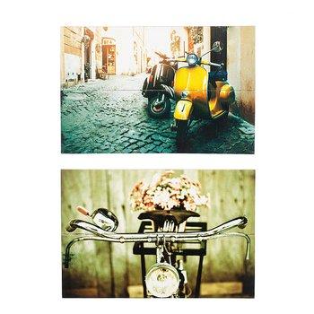Tavla i trä Cykel, 20x30 cm