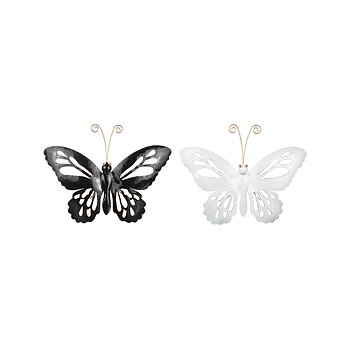 Wall decoration Butterfly, white 23x20 cm