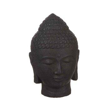Buddha concrete black, 22 cm