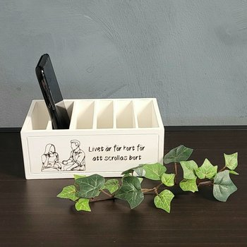 """Wooden box Mobiles """"Life is too short ..."""""""